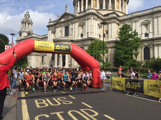 London City Mile start