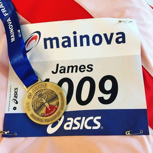 Frankfurt Marathon finishers medal