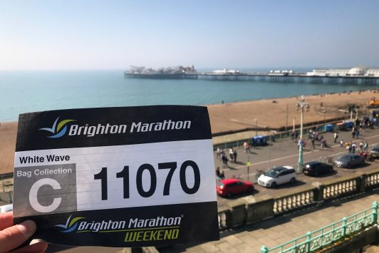 Brighton Marathon Race Number